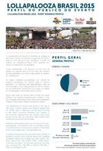 Relatório da pesquisa de perfil de público no Lollapalooza Brasil 2015